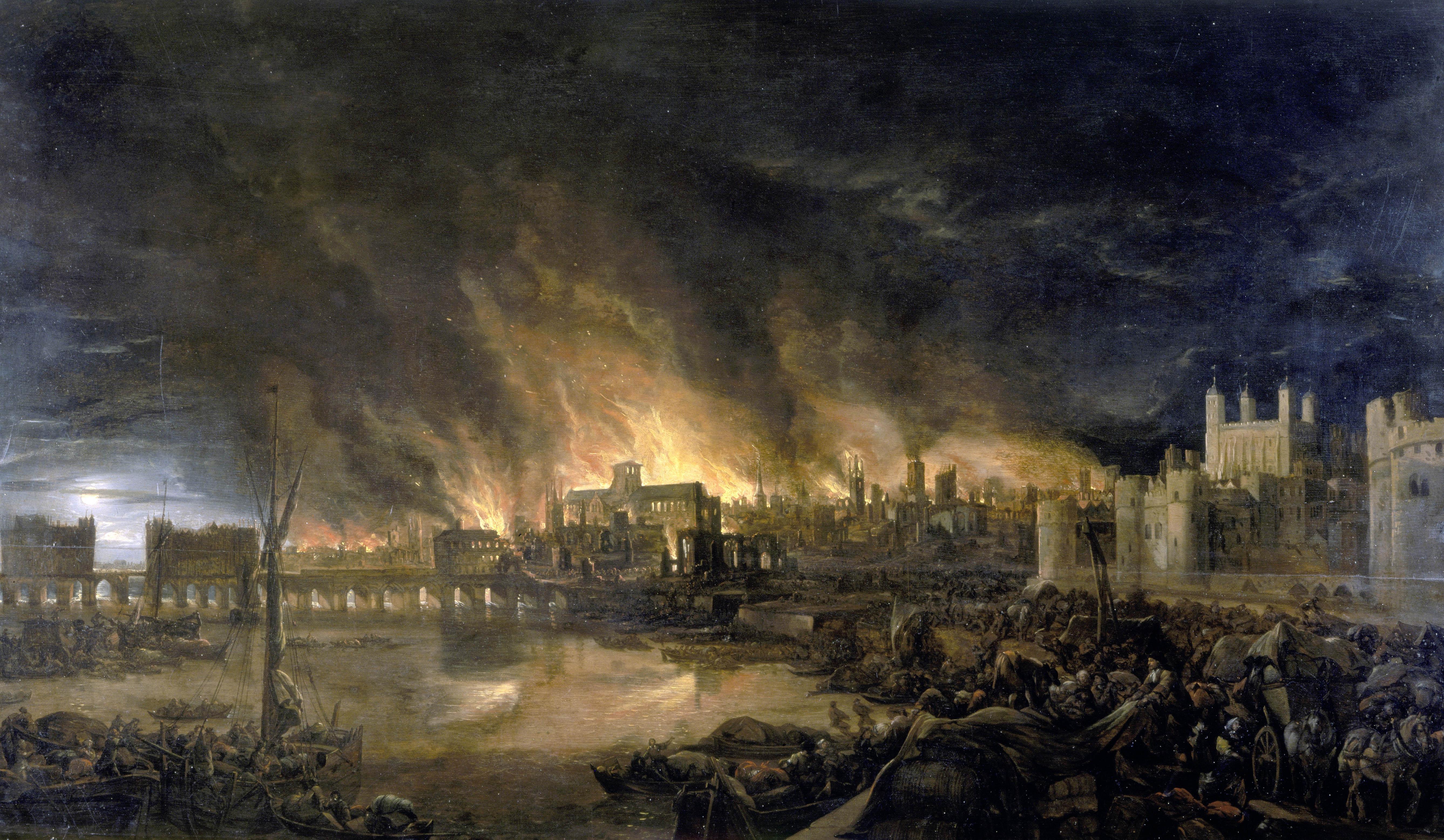 2. September 1666, der große Brand von London